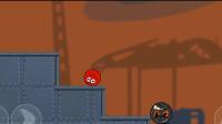 《红球闯关》小红球非常的厉害,躲过了机关,通关成功!