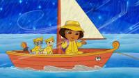 爱探险的朵拉小猫咪好厉害呀,自己穿越了大海,它是怎么过去的