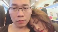 这也不知是谁家的女朋友,一路从浙江睡到上海,害我都坐过好几站了