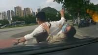 女司机追尾惊慌尖叫将对方撞出十几米 丈夫车内崩溃大喊