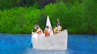 纸船能在水里能在载人吗?老外大胆测试,结果真是太硬核了!