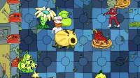 植物大战僵尸:戴夫用冰坚果挡住了僵尸的去路