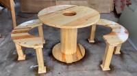 木托盘还有这样的作用,拆了改造成圆桌,真是脑洞大开