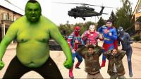 超级英雄与军队