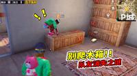 """和平精英:新版P城有个横条木箱,玩家爬上去会""""消失"""""""