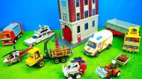 建筑模型牵引车玩具套装开箱