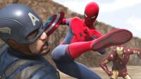 蜘蛛侠:钢铁侠与美国队长与蜘蛛侠