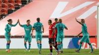 西甲-巴萨4-0大胜领先皇马5分,梅西独造3球!