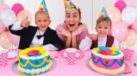 超惊喜,萌娃小正太怎么给妈妈做生日蛋糕?谁做得更好看更好吃?儿童亲子益智趣味游戏玩具故事