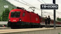 夏季暴雨,致客运服务延误【ÖBB1016-奥地利蒂罗尔线-模拟列车】