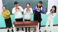 学霸王小九:老师让学生挑战吃辣条,没想新同学一听条件直接吓跑了!太逗了