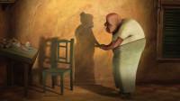 动漫:老人因为太孤独,错把自己的影子当爱人,结局太让人感动!