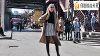 时尚:黑色丝袜穿出精致感!妹子这大长腿得有一米八吧?