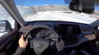 雪地试驾2020款丰田汉兰达