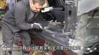 俄罗斯大叔维修特斯拉事故车,车身右侧受损,柱和门槛做了校正