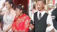 还以为穿婚纱的是新娘,没想到穿红旗袍的才是,这对新人真是郎才女貌!