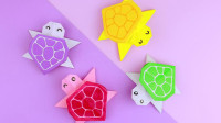 趣味折纸教学,可爱小乌龟的折叠方法!