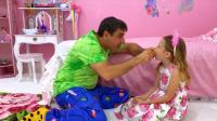 美国儿童时尚,小萝莉的虫牙一直不脱落,爸爸一个小妙招,帮宝贝摆脱了虫牙困扰