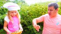 美国儿童时尚,萌娃化身小厨师,今天她要一展厨艺,为爸爸做一顿大餐!