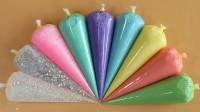 在家用9种不同颜色的泥来DIY史莱姆,会变成什么颜色?好期待啊!