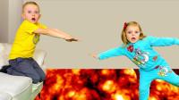 糟糕,萌娃小正太的家怎么突然着火了?可是小萝莉能拯救他吗?儿童亲子益智趣味游戏玩具故事