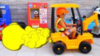 萌娃小可爱们可真是会玩呢!小家伙的玩具车店开业啦!—萌娃:这是你要的挖掘机!