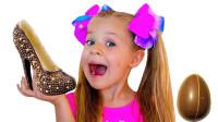 萌宝玩具故事:好奇怪!小萝莉的鞋子为何变成了巧克力?