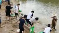 鱼跃龙门金榜题名!学校组织师生高考前共同捕鱼 2000斤免费吃