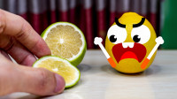 可爱柠檬会说话,你怎么还忍心吃它啊!谁来救救这柠檬,搞笑动画