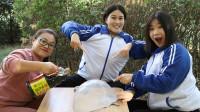 学霸王小九校园剧:老师让学生用酱油做无硼砂泥,没想做的泥还能搭大帐篷,真漂亮