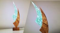 小夜灯滴胶制作精美的风帆木饰小夜灯,你想拥有吗?一起来见识下