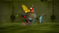 爆笑虫子:鼻涕虫趴在深海鱼身上,躲过了一劫,但危险并没有结束