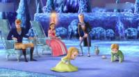 小公主苏菲亚:恐龙想演出超开心!男巫施法术,冰雪覆盖整个王国