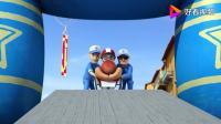 超级飞侠:赛车比赛即将开始,工作人员把车推出来,要出发啦(1)