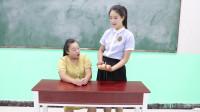 学霸王小九校园剧:学生挑战单手抓6个鸡蛋,无人做到,没想被女同学一招解决!