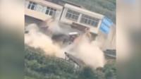 实拍贵州黔西滑动山体致52房倒塌:住户全撤,滑体停止隐患仍存