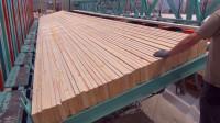 木材加工厂实拍,长短不齐的木板是如何拼接的?终于看明白了