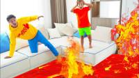 糟糕,萌娃小正太的家怎么突然着火了?可是他和爸爸谁能帮大忙?儿童亲子益智趣味游戏玩具故事