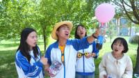 装甲车争夺赛,要求用气球做手工,大圣做出气球饮水机