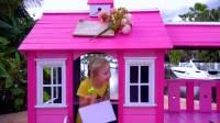 国外少儿时尚,萌宝拥有超级食玩玩具房,还能做出各种美食来