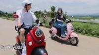 许光汉欧阳娜娜偶像剧出场,骑着摩托车来也太有感觉!了