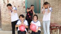 短剧:吸管吹气球比赛,决战时刻考验胆量和肺活量的时候到了!
