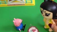 葫芦娃帮乔治品尝糖果,一口就吃光了糖果,乔治哭着找怪兽告状