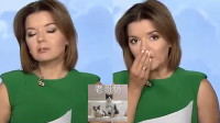 乌克兰知名女主持直播中门牙脱落 淡定捂嘴继续播报