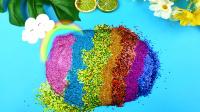 解压史莱姆挑战用三盒起泡胶加闪粉混合彩虹棉花糖!能成功吗?