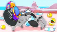 小岛清洁工 螃蟹背上有个投币口,往里投钱会怎么样? 桃子精解说