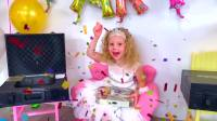 国外儿童时尚,小女孩生日到了,爸爸给她准备了礼物