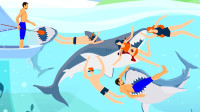 击退鲨鱼袭击的方法是打它们的鼻子和眼睛?科普知识英语学习