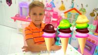 哥哥想吃冰淇淋,萌娃小可爱亲自动手给他制作,小家伙可真是太能干啦!