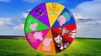 小猪佩奇和汪汪队立大功、超级飞侠学习英语,儿童益智卡通转盘游戏,婴幼儿宝宝早教动画视频